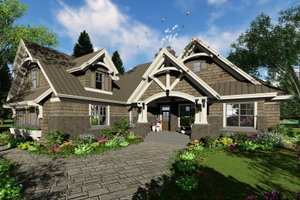 Craftsman Exterior - Front Elevation Plan #51-572