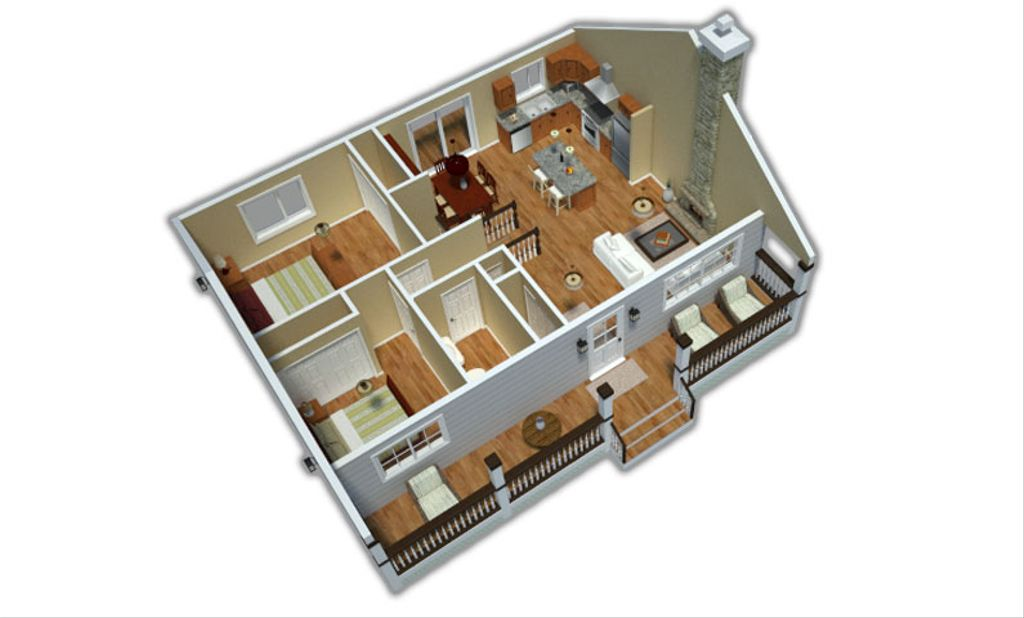 Country Style House Plan 2 Beds 1 Baths 900 Sq Ft Plan