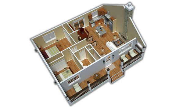 Country Floor Plan - Other Floor Plan Plan #18-1027