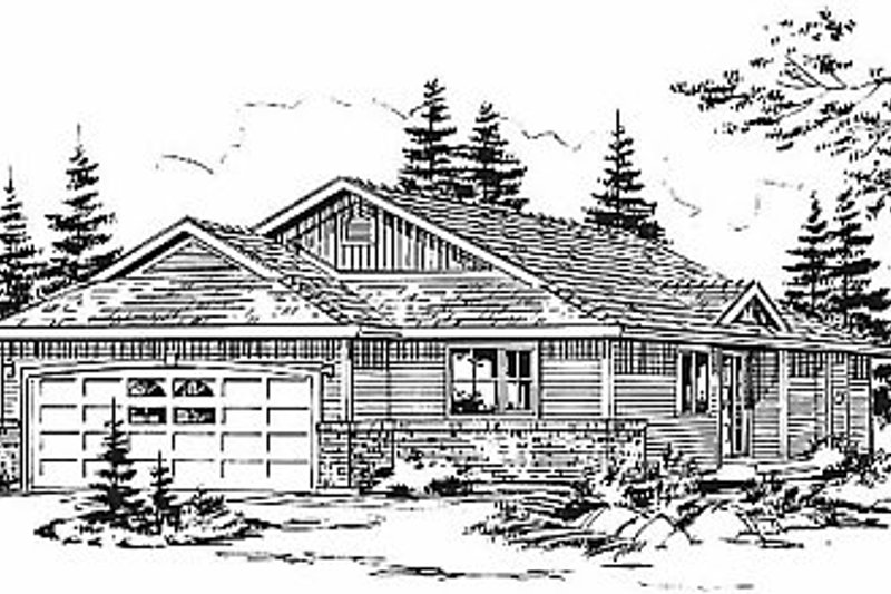 Traditional Style House Plan - 3 Beds 2 Baths 1142 Sq/Ft Plan #18-1030 Exterior - Front Elevation