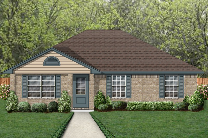 Traditional Exterior - Front Elevation Plan #84-576 - Houseplans.com