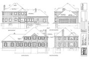 European Style House Plan - 4 Beds 3 Baths 2812 Sq/Ft Plan #47-194 Exterior - Rear Elevation