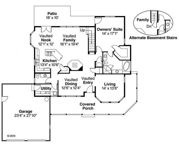 Farmhouse Floor Plan - Main Floor Plan Plan #124-181