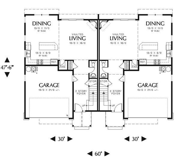 Craftsman Floor Plan - Main Floor Plan Plan #48-549