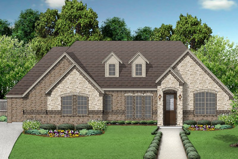Traditional Exterior - Front Elevation Plan #84-594 - Houseplans.com
