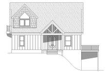 Cabin Exterior - Front Elevation Plan #932-250
