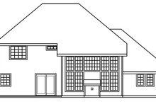 Dream House Plan - Traditional Exterior - Rear Elevation Plan #124-382