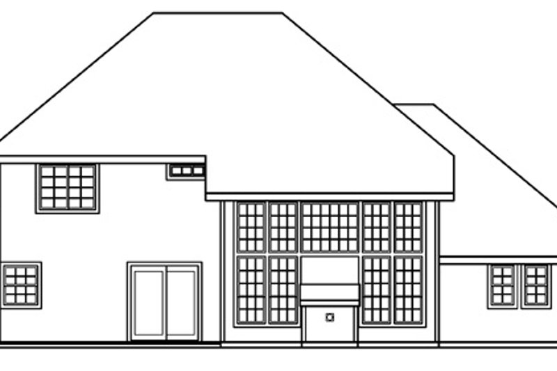 Traditional Exterior - Rear Elevation Plan #124-382 - Houseplans.com