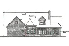 Dream House Plan - Traditional Exterior - Rear Elevation Plan #23-330