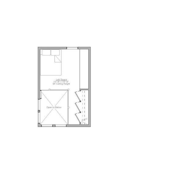 Modern Style House Plan - 1 Beds 1 Baths 610 Sq/Ft Plan #914-4 Floor Plan - Upper Floor Plan