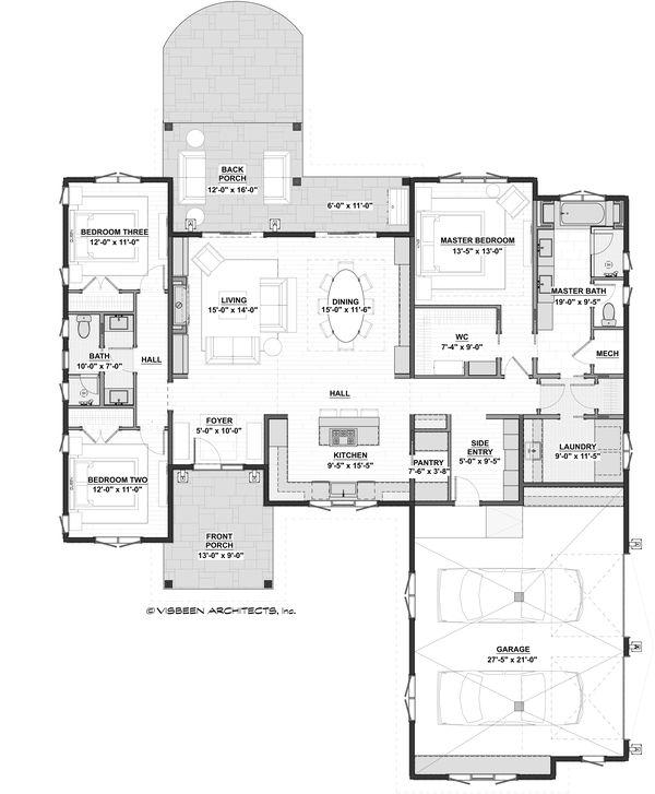 House Plan Design - Modern Floor Plan - Main Floor Plan #928-360