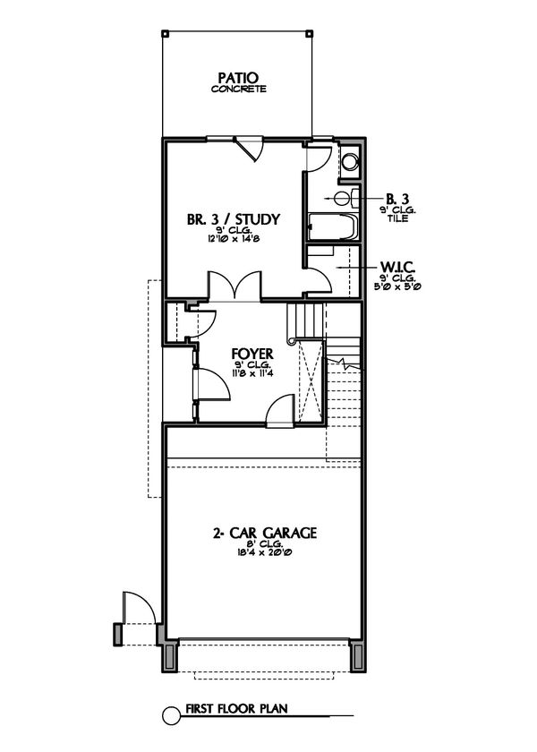 Mediterranean Floor Plan - Lower Floor Plan Plan #449-19