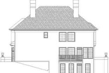 Classical Exterior - Rear Elevation Plan #119-210
