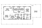 Ranch Style House Plan - 3 Beds 2 Baths 2176 Sq/Ft Plan #124-965 Floor Plan - Main Floor Plan