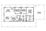 Ranch Style House Plan - 3 Beds 2 Baths 2176 Sq/Ft Plan #124-965 Floor Plan - Main Floor Plan