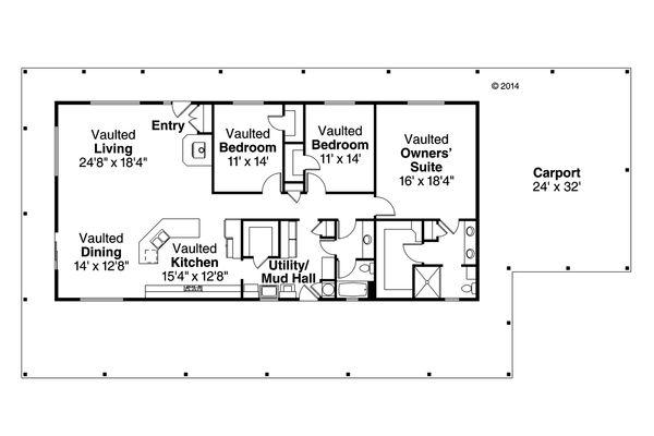 Ranch Floor Plan - Main Floor Plan Plan #124-965