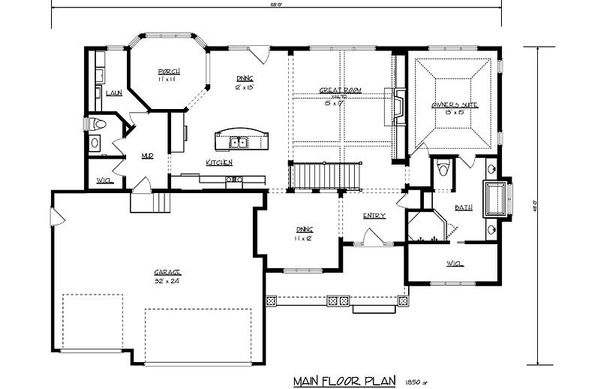 Traditional Floor Plan - Main Floor Plan Plan #320-485
