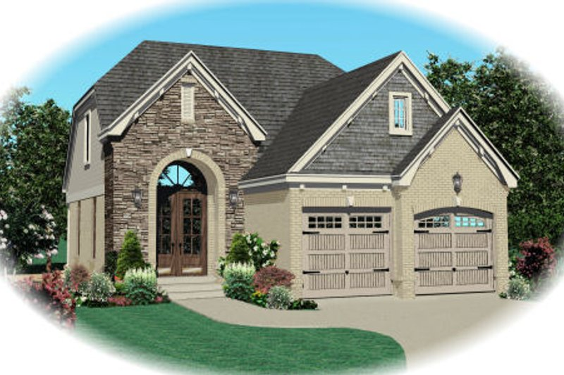 Traditional Style House Plan - 3 Beds 2.5 Baths 1695 Sq/Ft Plan #81-13617 Exterior - Front Elevation