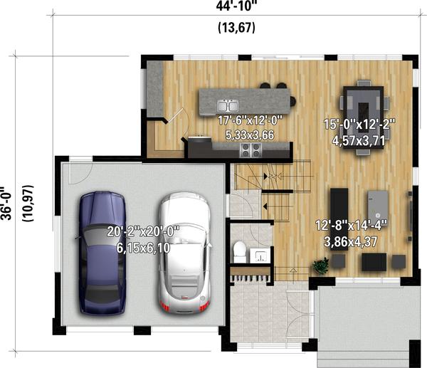 House Plan Design - Contemporary Floor Plan - Main Floor Plan #25-4892