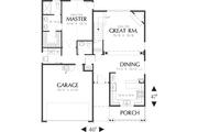 Craftsman Style House Plan - 4 Beds 2.5 Baths 1866 Sq/Ft Plan #48-439 Floor Plan - Main Floor Plan