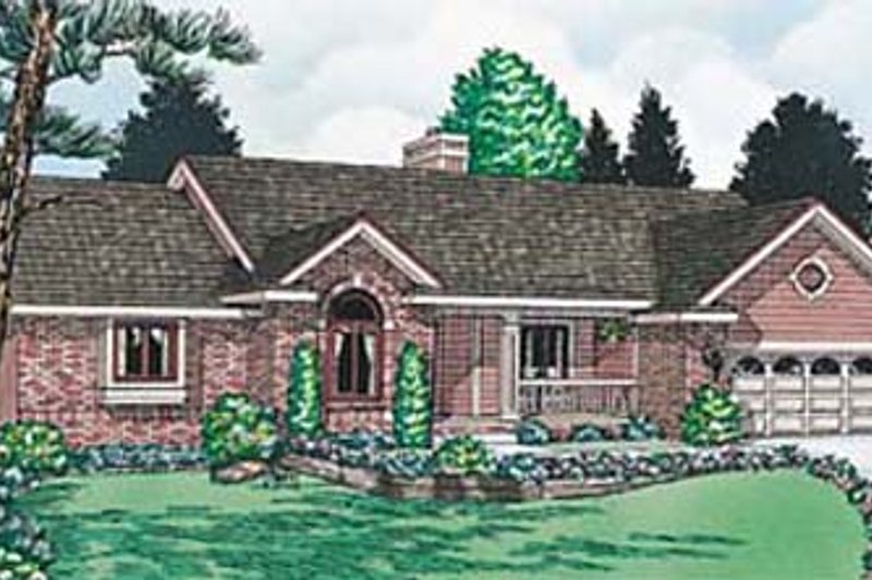 Traditional Exterior - Front Elevation Plan #20-132 - Houseplans.com