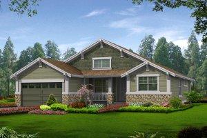 Architectural House Design - Craftsman Exterior - Front Elevation Plan #132-196