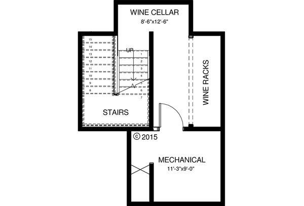 Craftsman Floor Plan - Lower Floor Plan Plan #895-50