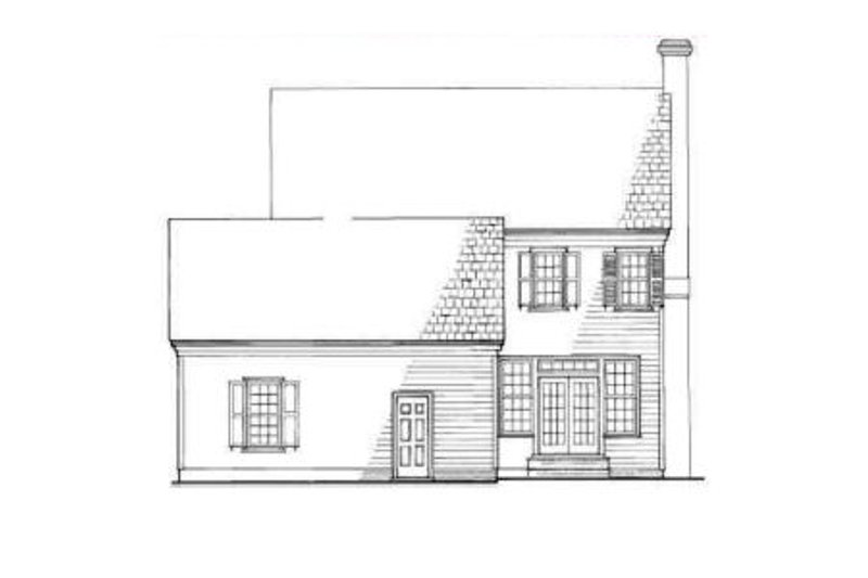 Colonial Exterior - Rear Elevation Plan #137-223 - Houseplans.com