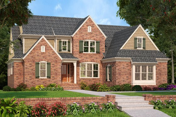 Home Plan Design - Traditional Exterior - Front Elevation Plan #927-985