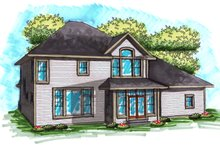 House Plan Design - Traditional Exterior - Rear Elevation Plan #70-1038