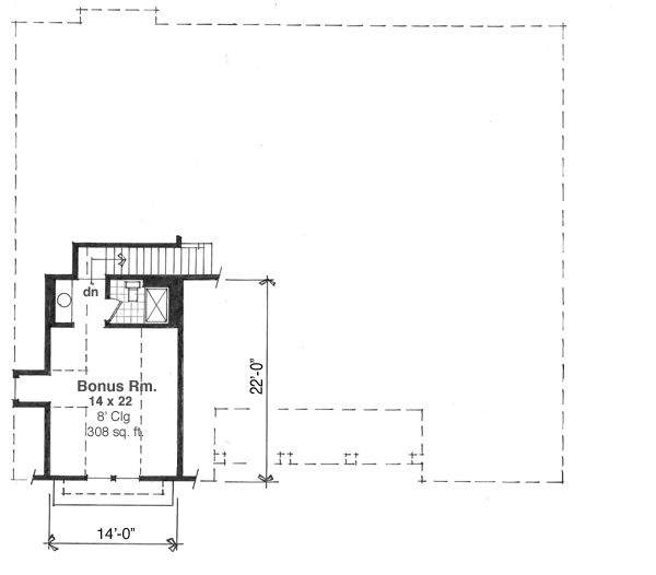 Craftsman Floor Plan - Other Floor Plan Plan #51-511