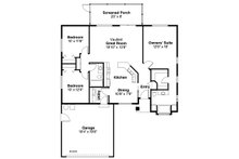 Traditional Floor Plan - Main Floor Plan Plan #124-256