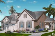 Mediterranean Style House Plan - 3 Beds 2 Baths 2104 Sq/Ft Plan #23-2218 Exterior - Front Elevation