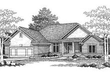 Dream House Plan - Traditional Exterior - Front Elevation Plan #70-336