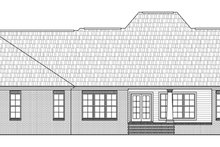 European Exterior - Rear Elevation Plan #21-332