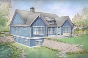 Farmhouse Style House Plan - 4 Beds 3.5 Baths 3447 Sq/Ft Plan #928-301 Exterior - Rear Elevation