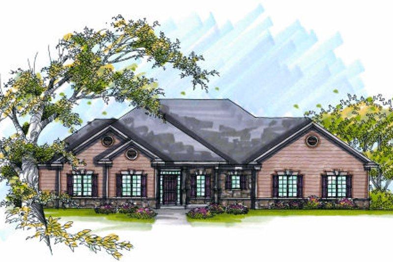 Bungalow Exterior - Front Elevation Plan #70-980 - Houseplans.com