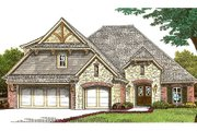 European Style House Plan - 3 Beds 2.5 Baths 1992 Sq/Ft Plan #310-665 Exterior - Front Elevation