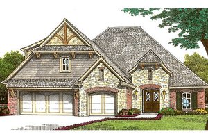 European Exterior - Front Elevation Plan #310-665