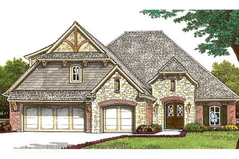 Dream House Plan - European Exterior - Front Elevation Plan #310-665