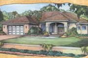 Mediterranean Style House Plan - 3 Beds 2.5 Baths 2181 Sq/Ft Plan #115-113 Exterior - Front Elevation
