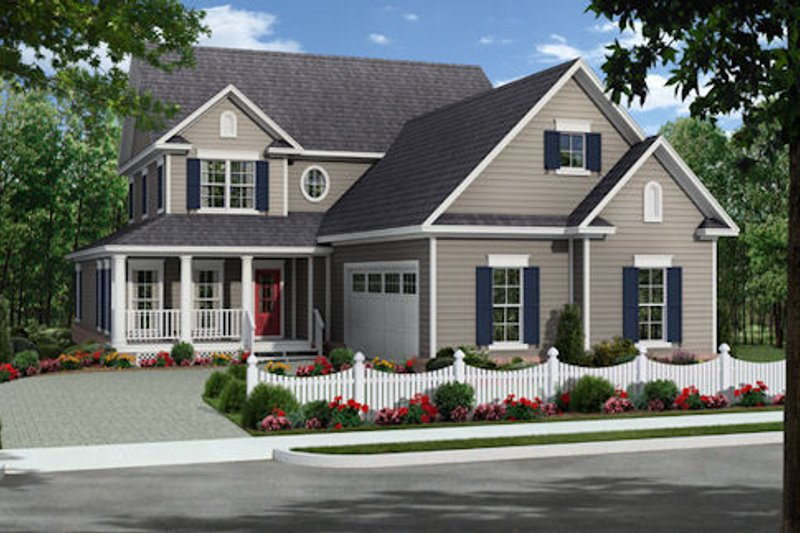 Country Exterior - Front Elevation Plan #21-321