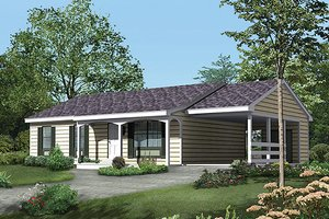 Ranch Exterior - Front Elevation Plan #57-414