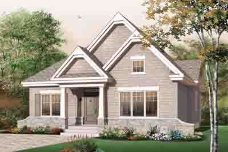 Traditional Exterior - Front Elevation Plan #23-638 - Houseplans.com