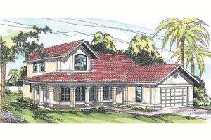 Architectural House Design - Mediterranean Exterior - Front Elevation Plan #124-435
