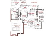 Traditional Style House Plan - 5 Beds 3 Baths 3827 Sq/Ft Plan #63-192 Floor Plan - Main Floor Plan