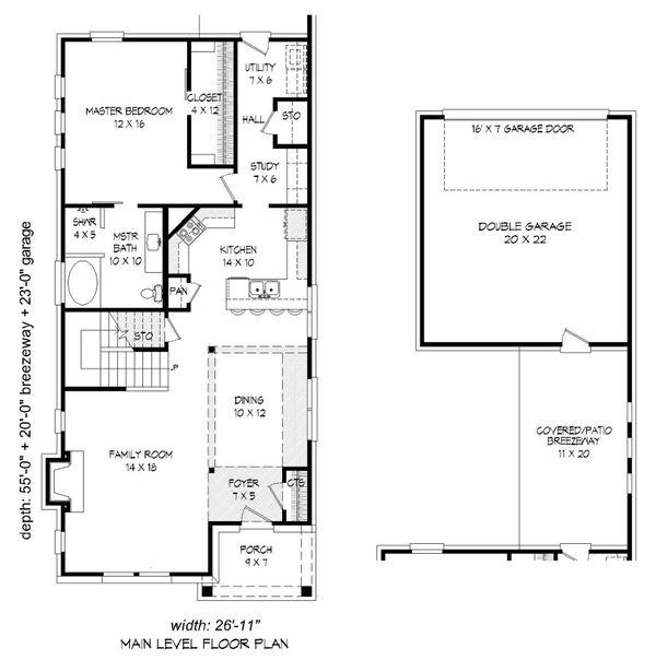 Cottage Floor Plan - Main Floor Plan Plan #932-24