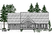 Craftsman Style House Plan - 3 Beds 2 Baths 2212 Sq/Ft Plan #487-2 Exterior - Front Elevation