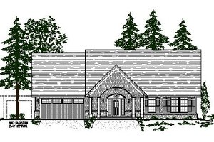 Craftsman Exterior - Front Elevation Plan #487-2