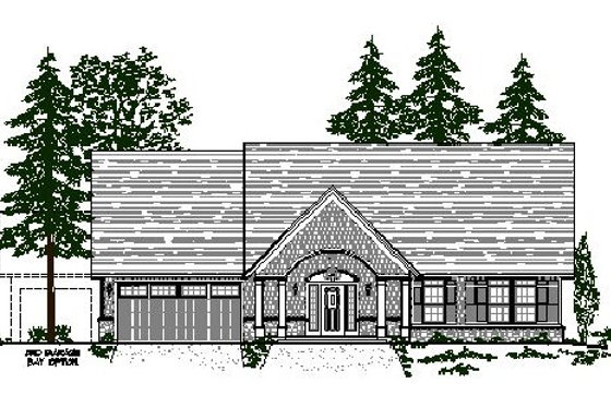 Craftsman Exterior - Front Elevation Plan #487-2